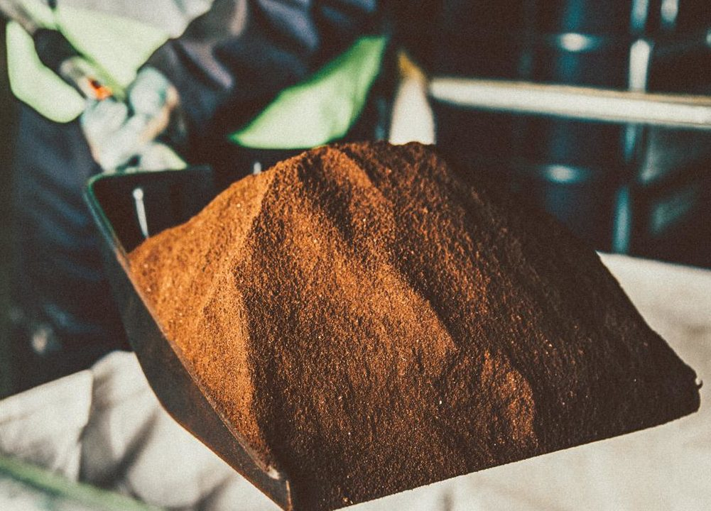 Picture of spent coffee grounds